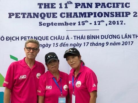 Buehler, Kawabata, Goma 2017 Pan Pacific Petanque Championship in Ho Chi Minh