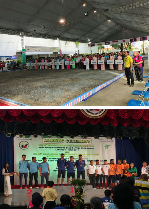 Pan Pacific Petanque Championship in Ho Chi Minh Opening Ceremony and Podium