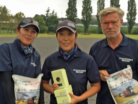 2018 Fresh Kashiwa Petanque Tournament A. Buehler, A. Goma, K. Katata