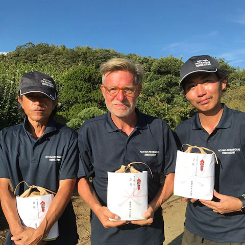 2018 Tani Cup Petanque Tournament A. Buehler N. Goma and Nabeshima