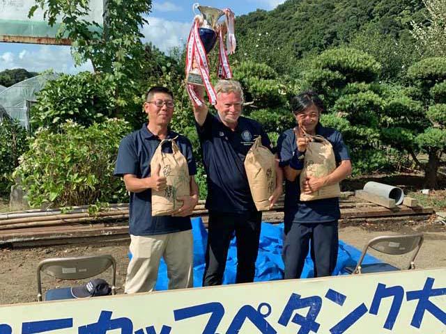 2019 Tani Cup Petanque Tournament A. Buehler, N. Goma, N.Takatori