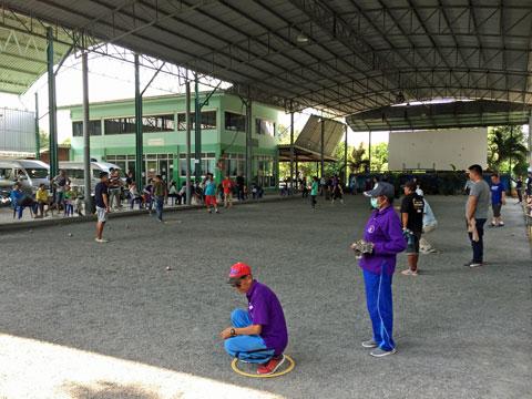 2019 Aoyama Petanque in Bangkok Petanque terrain