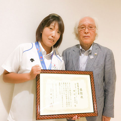 Ayumi Goma receives excellent player award