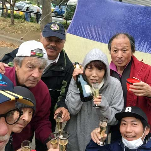 2017 Women Petanque World Championship celebration at Aoyama Petanque home ground
