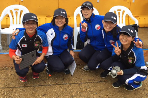 Japan Women Petanque Team 2017 Women Petanque World Championship Kaihua China